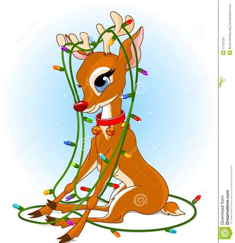 rudolph christmas lights stock vector image of