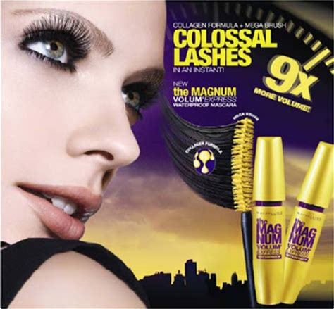 Maskara Maybelline Magnum Waterproof maybelline magnum volume express waterproof mascara harga