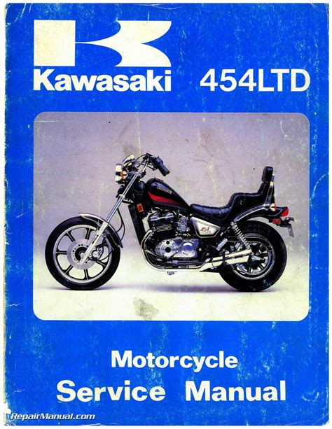 Kawasaki Motorcycle Service by 1984 Kawasaki En450a1 454 Ltd Motorcycle Service Manual
