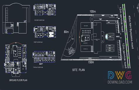 layout hotel dwg 5 star hotel cad project 187 dwgdownload com