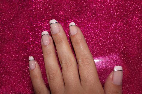imagenes de uñas en blanco y plata u 209 as francesas 100 im 193 genes y videos u 209 as decoradas