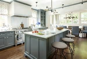 Blue Grey Kitchen Cabinets Blue Gray Cabinets Transitional Kitchen Westbrook
