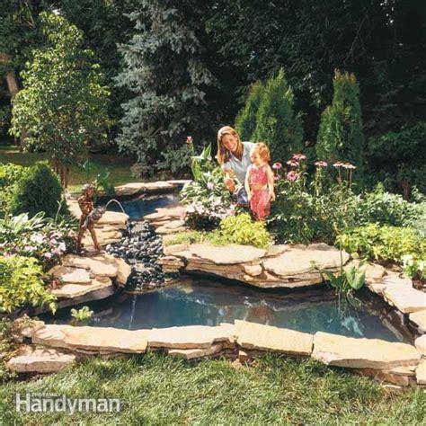 build  water garden stream  family handyman