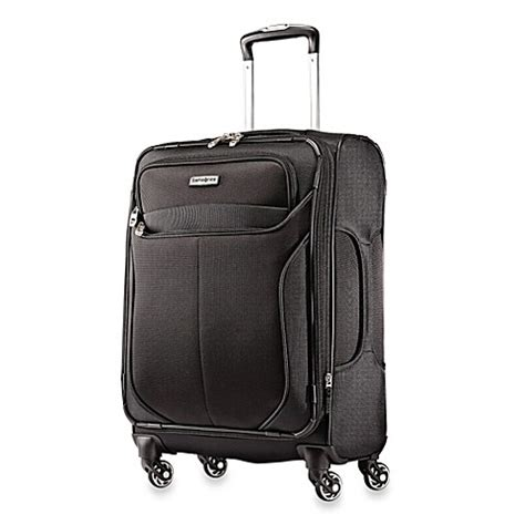 bed bath and beyond luggage samsonite liftwo 21 inch carry on spinner in black bed