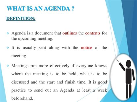 what is an agenda effective agenda writing