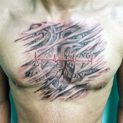 heartbeat tattoo guy heartbeat tattoos for men ideas and inspiration for guys