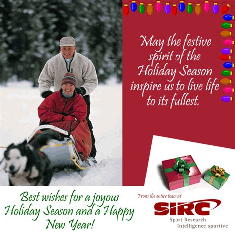 best wishes of the season sport information resource centre sirc best wishes for