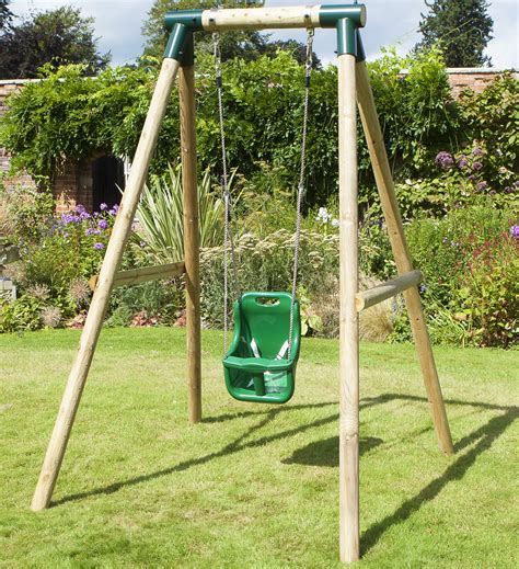 swing sets for babies rebo pluto baby wooden garden swing set baby swing ebay