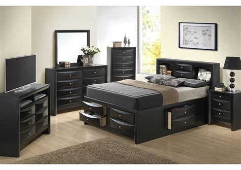 black dresser with mirror and nightstand american furniture design black king storage bookcase bed