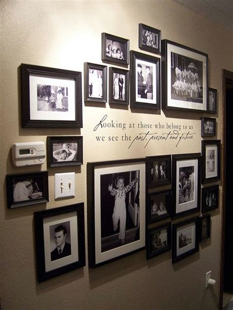 unique wall photo display ideas