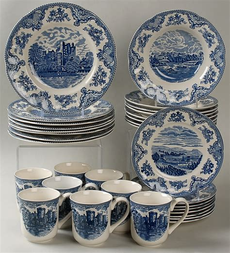 blue pattern dinnerware sets johnson brothers old britain castles blue at replacements