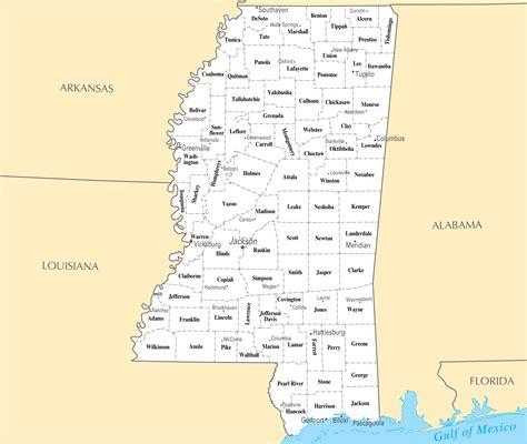 map of mississippi large administrative map of mississippi state mississippi