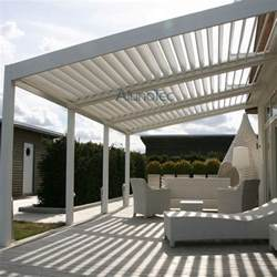 Pergola End Caps by Customized Louvre Roof System Garden Pergola Waterproof