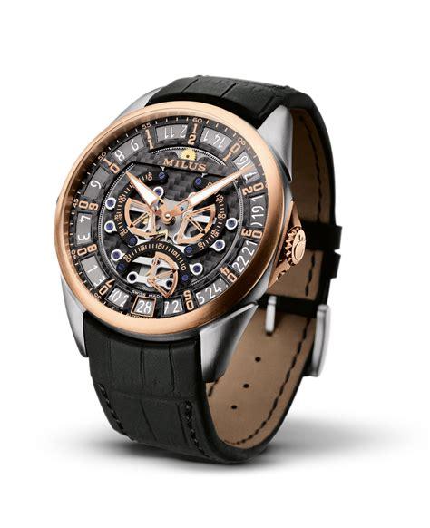 designers watch milus tirion triretrograde seconds skeleton titanium