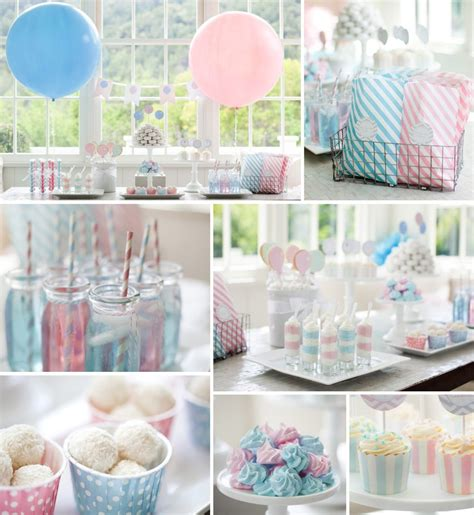 baby shower decoration set baby pink baby blue supplies set for prince