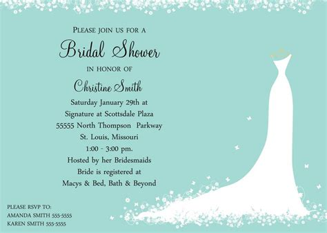 free sles of bridal shower invitations bridal shower invitation templates bridal shower