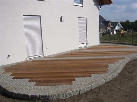 terrasse stein holz kombination terrasse holz und stein kombiniert bvrao