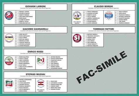 elezioni regionali interno regionali 2015 fac simile scheda pisa politiche