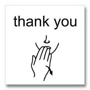 thank you in sign language auslan in sign sign language and language