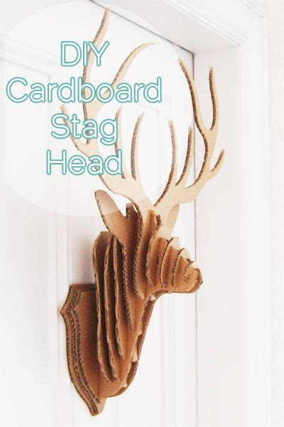 free cardboard taxidermy templates diy cardboard stag taxidermy with free printable diy