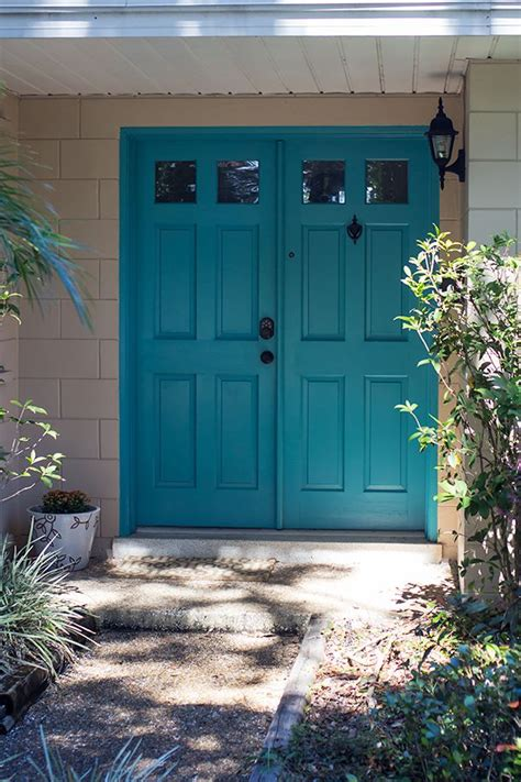 teal painted front door painted front doors teal front