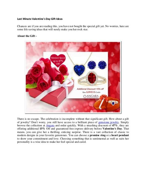 Last Minute Valentines Specials by Last Minute S Day Gift Ideas