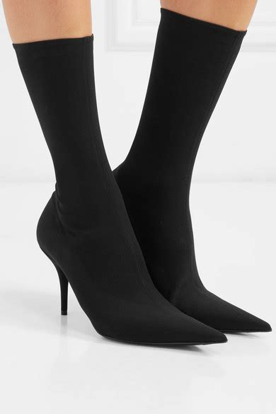 balenciaga knife spandex sock boots net  portercom