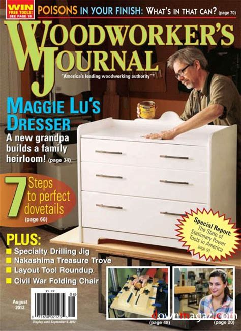 woodworkers journal woodworker s journal vol 36 4 august 2012 187 pdf