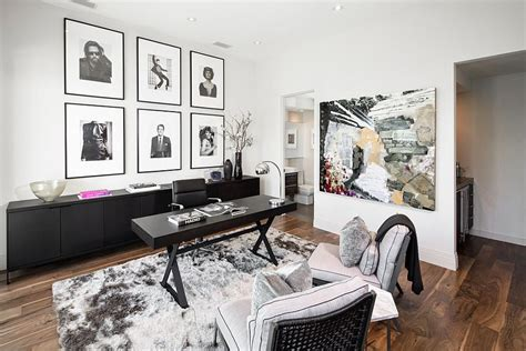 Home Decor Photo by 30 Black And White Home Offices That Leave You Spellbound