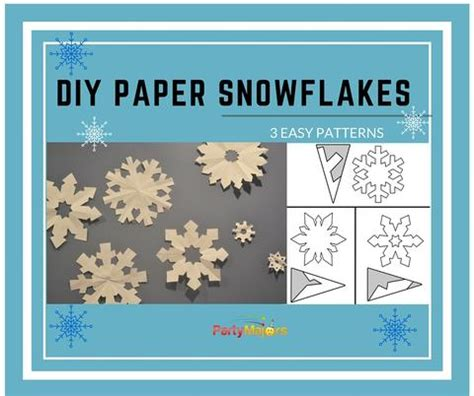 diy  easy pretty paper snowflakes party majors