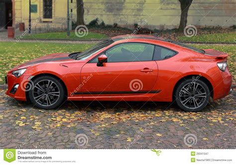 bright orange cars orange bright sport car outdoor stock image image 29341347