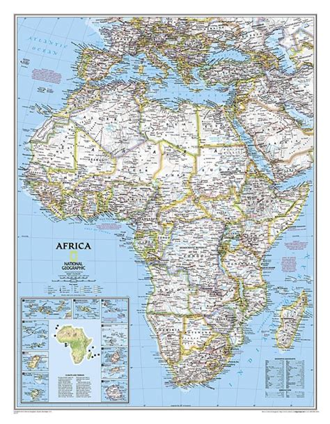 classic maps buy africa classic sleeved by national geographic maps