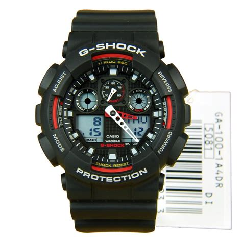 Casio G Shock Ga100 Dualtime casio g shock world time alarm sports ga 100 1a4 ga100 ebay