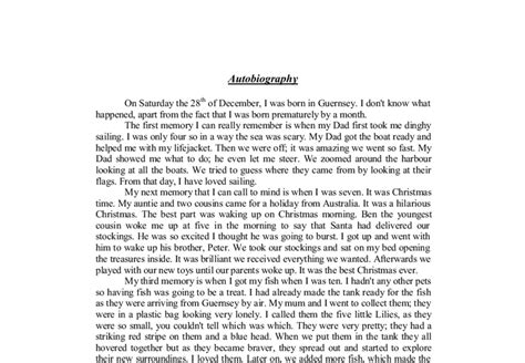 How To Write A Creative Essay by Autobiography Creative Writing Gcse Psychology Marked By Teachers