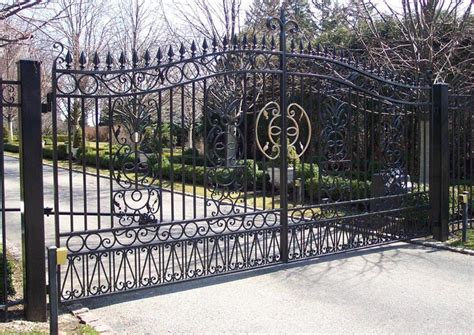 Decorative Gates by Home Residential Ornamental Swing Gates For Sale Chicago