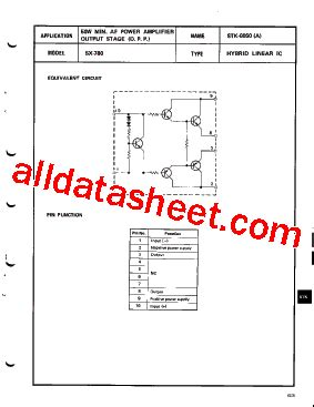 list of integrated circuit companies stk0050 datasheet pdf list of unclassifed manufacturers