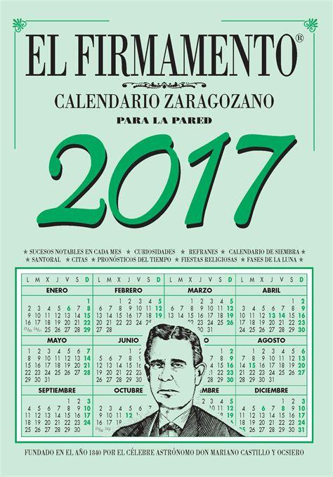 Calendario Zaragozano 2017 Pdf Calendario Zaragozano 2017 Pared El Firmamento Otros
