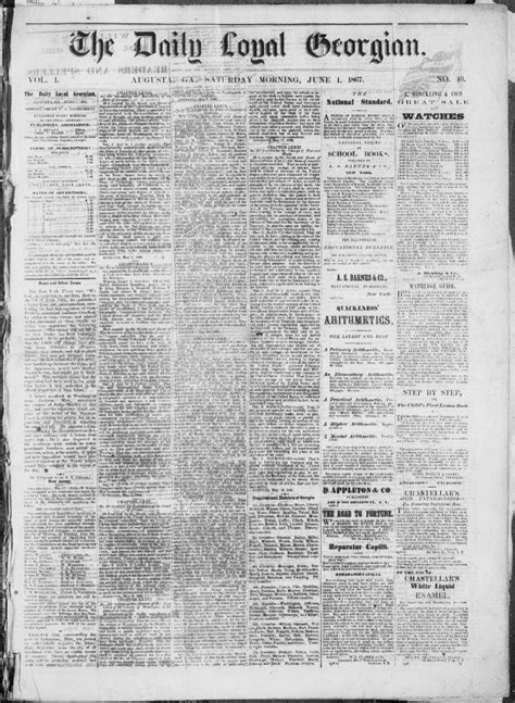 Georgia Civil War and Reconstruction newspapers now freely