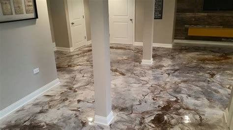 concrete floor coverings basement interior concrete basement floor epoxy reflector metallic and coffee epoxy floors concrete