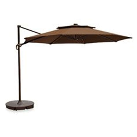 Patio Umbrella Lights Bed Bath And Beyond 11 Foot Outdoor Cantilever Solar Umbrella With Steel