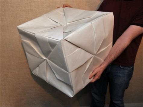 World Record Origami - largest origami cube world record david webber