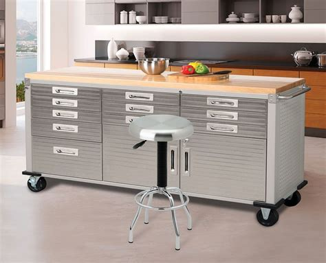 garage bench storage workbench table garage storage steel tool box 12 drawers
