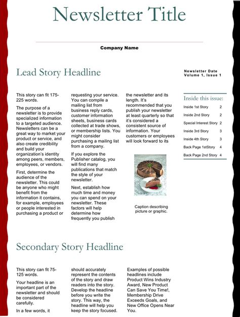 business newsletter template business newsletter template free premium