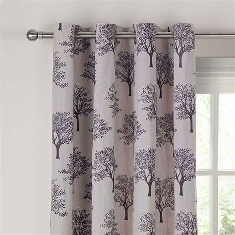 how to make lined curtains john lewis john lewis oakley trees eyelet lined curtains black