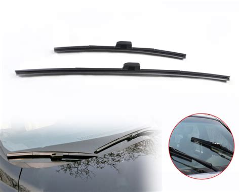 Promo Promo Wiper Frameless Mobil 1 Set Kanan Kiri Harga Dapa Qt 22v B 26 quot 17 quot frameless steel rubber window windshield wiper blade for honda crv 2007 2012 nissan