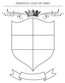 coat of arms template for students ict years primary design your shield