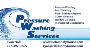 power washing business cards pressure washing services