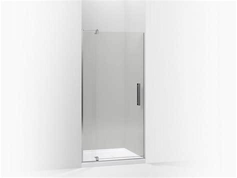 kohler glass shower doors k 707536 l revel frameless pivot shower door kohler