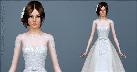 Dress Big Salur Cc my sims 3 wedding dress 28 bouquet by beo