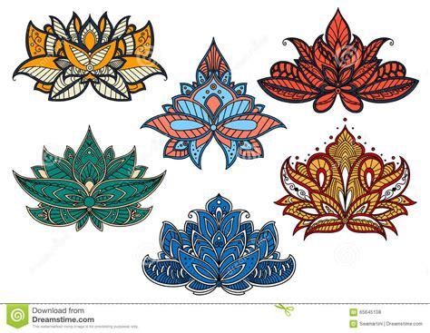 fiori indiani fiori variopinti di paisley con i motivi indiani